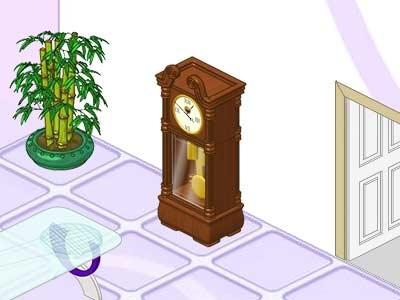 Wooden Grandfather Clock Webkinz